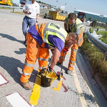 What is the history of road markings?