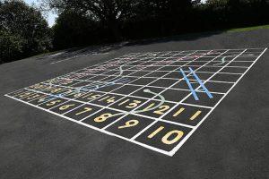 Playground Markings in Leeds