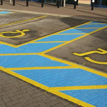 Disabled Bay Parking marking in Sheffield