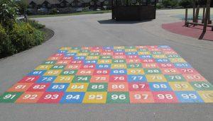 School Playground Markings in Sheffield