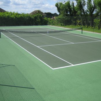 How often should I refurbish and clean my tennis court?