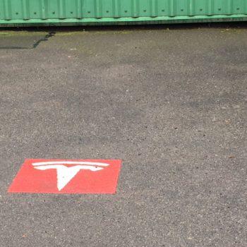 Tesla Charging Markings