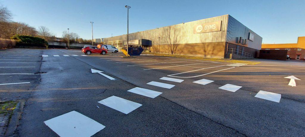 Car Park Markings After JD Gym Rotherham