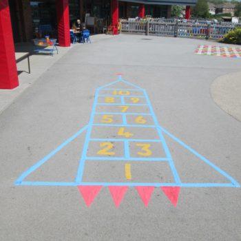 Rocket School Playground Markings in Sheffield