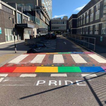 Pride markings in Sheffield