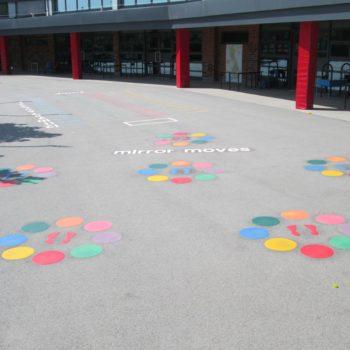 School ground markings in Sheffield