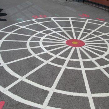 School ground markings in Rotherham