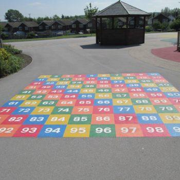 School ground markings in Wakefield