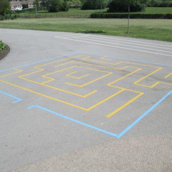 School ground markings in Chesterfield
