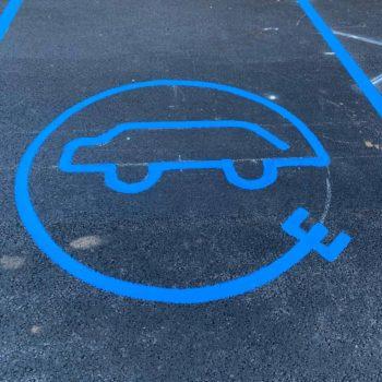 Car Park Charging Markings Leeds