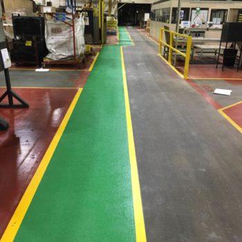 Warehouse markings in Sheffield
